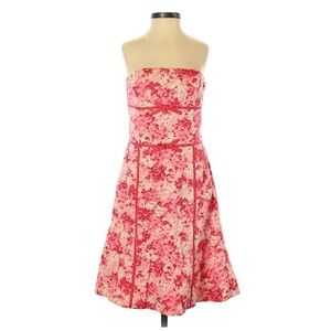 Ann Taylor Double Bow Strapless Dress